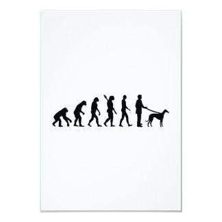 "Evolution Greyhound 3.5"" X 5"" Invitation Card"
