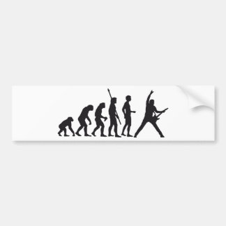 evolution guitar bumper sticker
