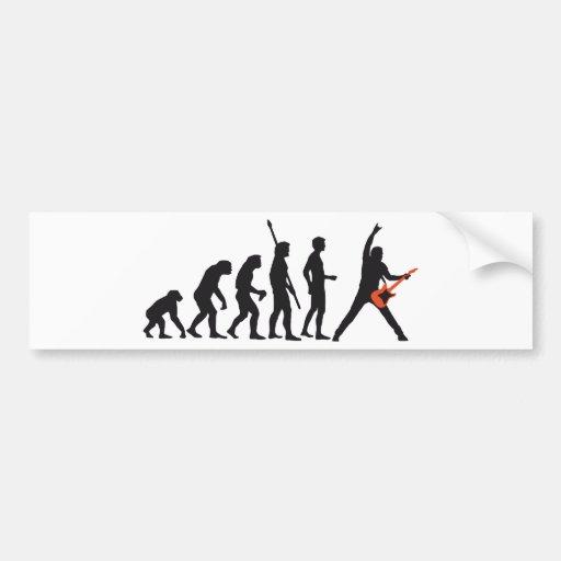 evolution guitar bumper stickers