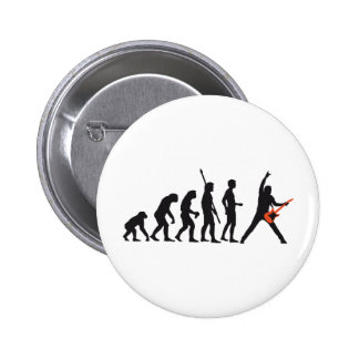 evolution guitar pinback buttons