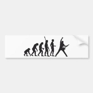evolution guitar etiqueta de parachoque