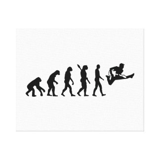 Evolution Guitar Canvas Print