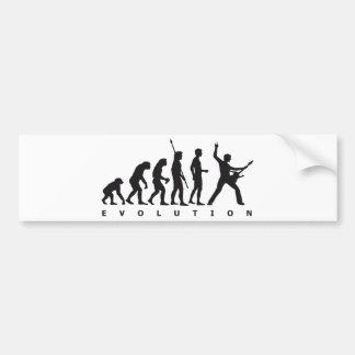 evolution guitar car bumper sticker