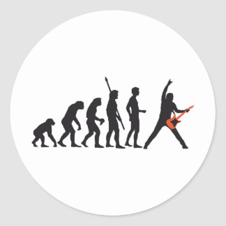 evolution guitar classic round sticker
