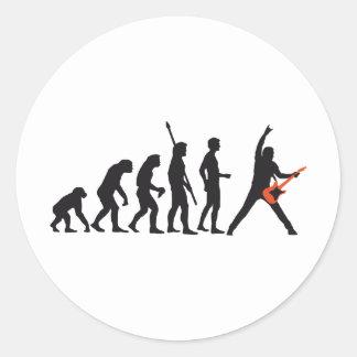 evolution guitar pegatina redonda