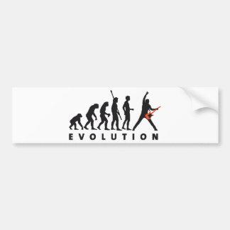 evolution guitar pegatina para auto