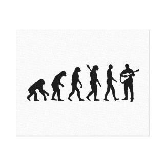 Evolution Guitarist Canvas Print