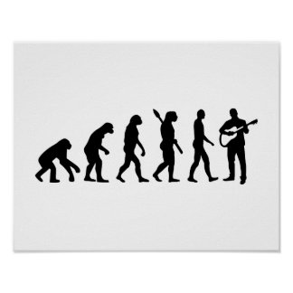Evolution Guitarist Poster
