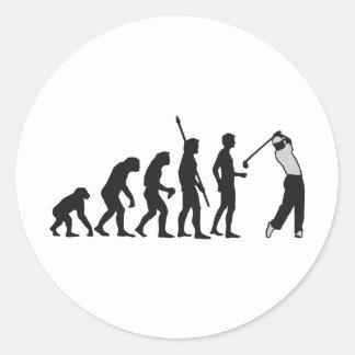 evolution gulf classic round sticker