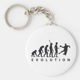 evolution hand ball basic round button keychain