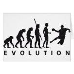 evolution hand ball greeting card