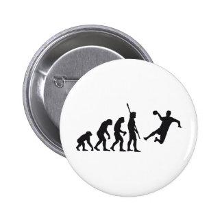 evolution hand ball pinback button