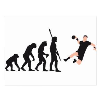 evolution hand ball postcard