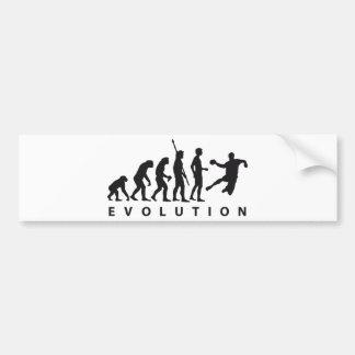 evolution handball pegatina de parachoque