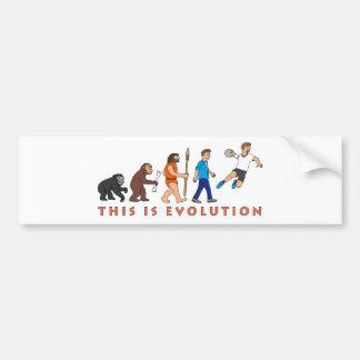 Evolution handball comic styles bumper sticker