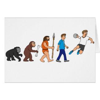 Evolution handball comic styles card
