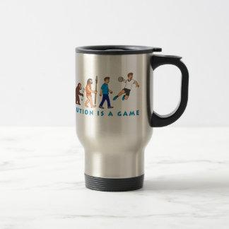 Evolution handball comic styles travel mug