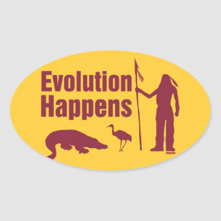 Evolution Happens - Florida Products Oval Sticker