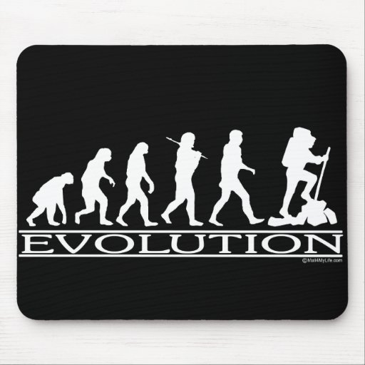 Evolution - Hiking Mouse Pads