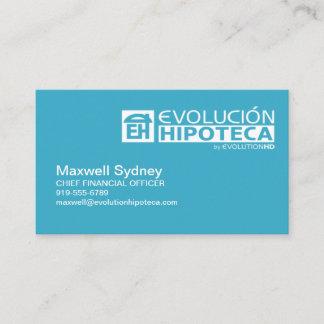 Evolution Hipoteca Business Cards
