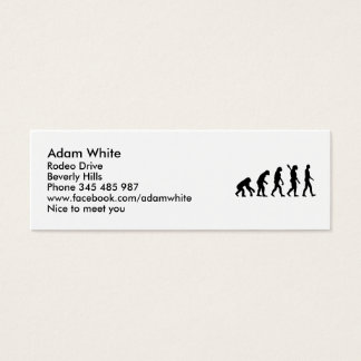 Evolution history monkey mini business card