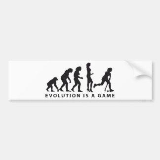 evolution hockey female pegatina de parachoque