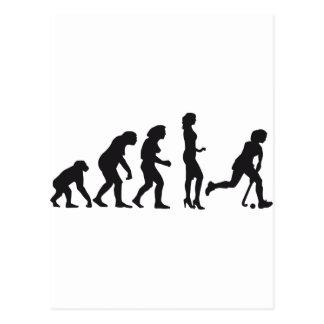evolution hockey female tarjetas postales
