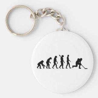 Evolution hockey player key chain
