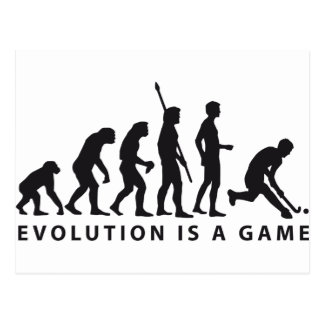 evolution hockey postcard