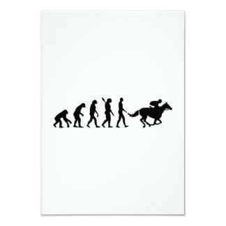 Evolution horse racing card
