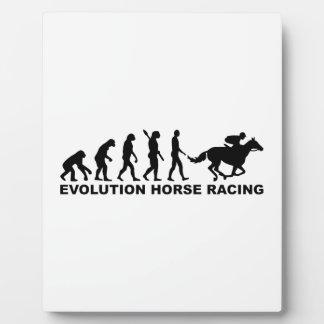 Evolution horse racing plaque