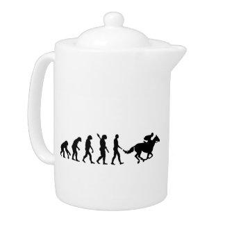 Evolution horse racing teapot