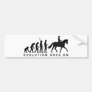 evolution horse riding pegatina de parachoque