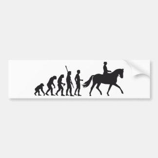 evolution horse riding etiqueta de parachoque