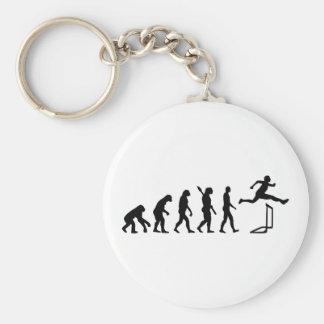 Evolution hurdles athlectics basic round button keychain