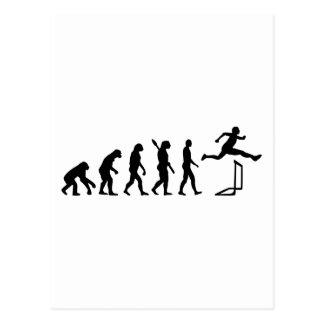 Evolution hurdles athlectics postcard