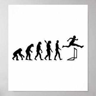 Evolution hurdles athlectics poster