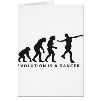 evolution ice dance greeting card