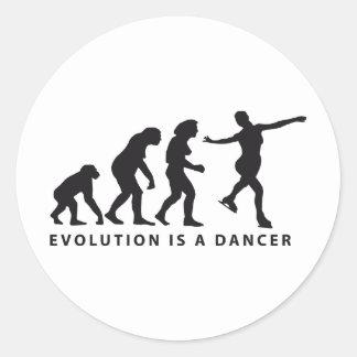 evolution ice dance pegatina redonda