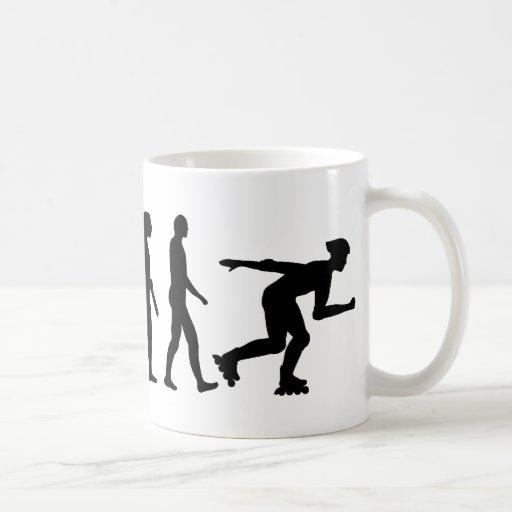 Evolution inline skating classic white coffee mug