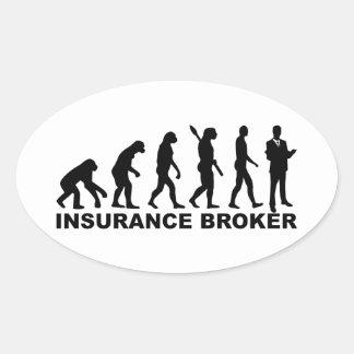 Evolution insurance broker oval sticker