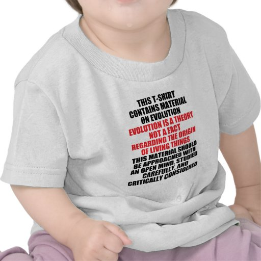 Evolution Is A Theory Tee Shirts