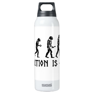 Evolution is Fact 16 Oz Insulated SIGG Thermos Water Bottle