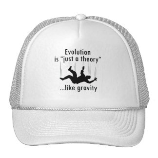 Evolution is just a theory cap trucker hat