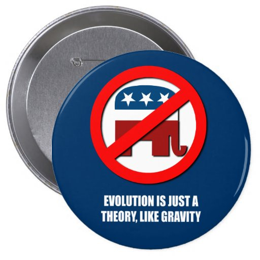 Evolution is just a theory like gravity button