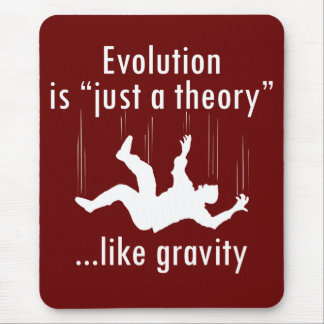 Evolution is just a theory mousepad