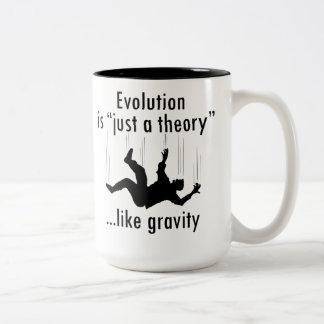 "Evolution is ""just a theory"" mug"