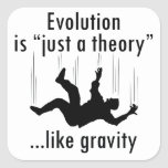 Evolution is just a theory stickers