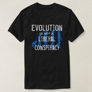 """Evolution is not a liberal conspiracy"" T-Shirt"
