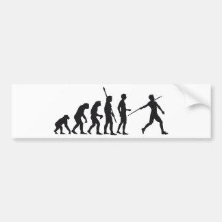 evolution javelin more thrower bumper sticker